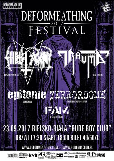 Christ Agony, Trauma, Epitome, Terrordome, Fam DEFORMEATHING Festival 2017