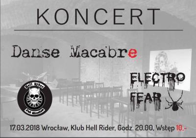Koncert Danse Macabre , Electro Fear