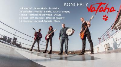VATAHA / Czarna Wołga / Agressiva69 - Koncert Kraków
