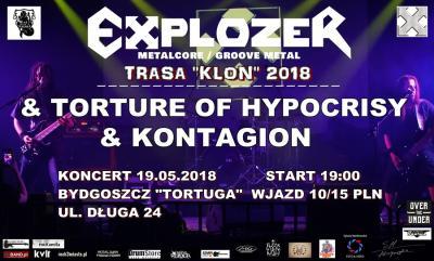 Explozer w Bydgoszczy & Kontagion & Torture of Hypocrisy
