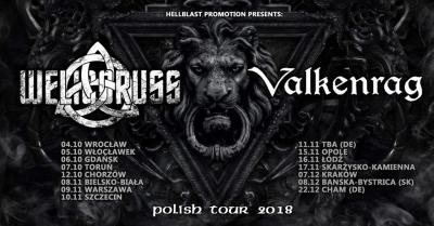 WELICORUSS (RUS, Symphonic Black Metal), VALKENRAG (Melodic Viking Death Metal) Release Albums Tour 2018