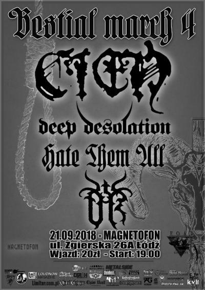 Bestial March IV - Cień, Deep Desolation, Hate Them All, UR
