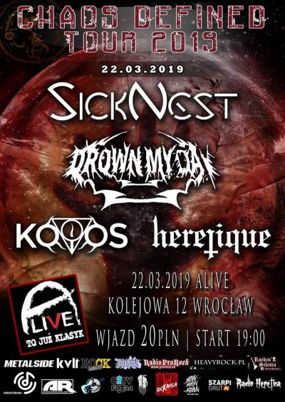 CH - D Tour / 22 III / Wrocław: DMD/KOIOS/SickNest/Heretique