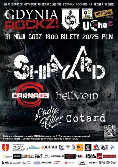 GdyniaROCKZ!: The Shipyard, Carnage, Hellvoid, Lady Kille i Cotard.