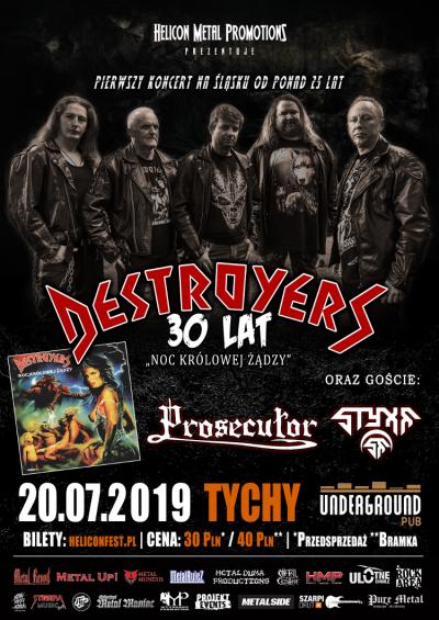 Koncert: Destroyers, Prosecutor i Styxx w Tychach.