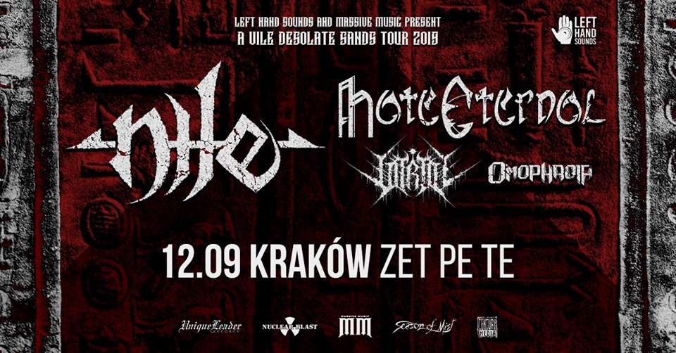 Nile, Hate Eternal + supports - 12 IX Kraków, Zet Pe Te