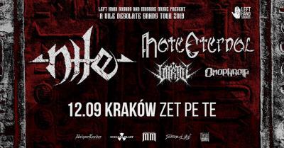 Nile, Hate Eternal + supports - 12 IX Kraków, Zet Pe Te.