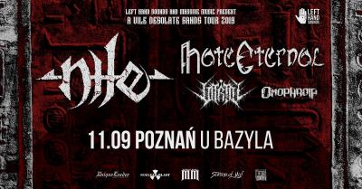 Nile, Hate Eternal + supports - 11 IX Poznań, U Bazyla.