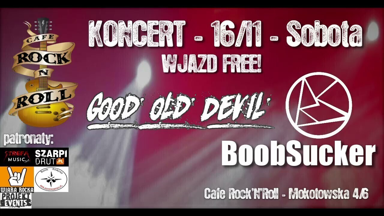 Good Old Devil & BoobSucker w Cafe Rock'N'Roll