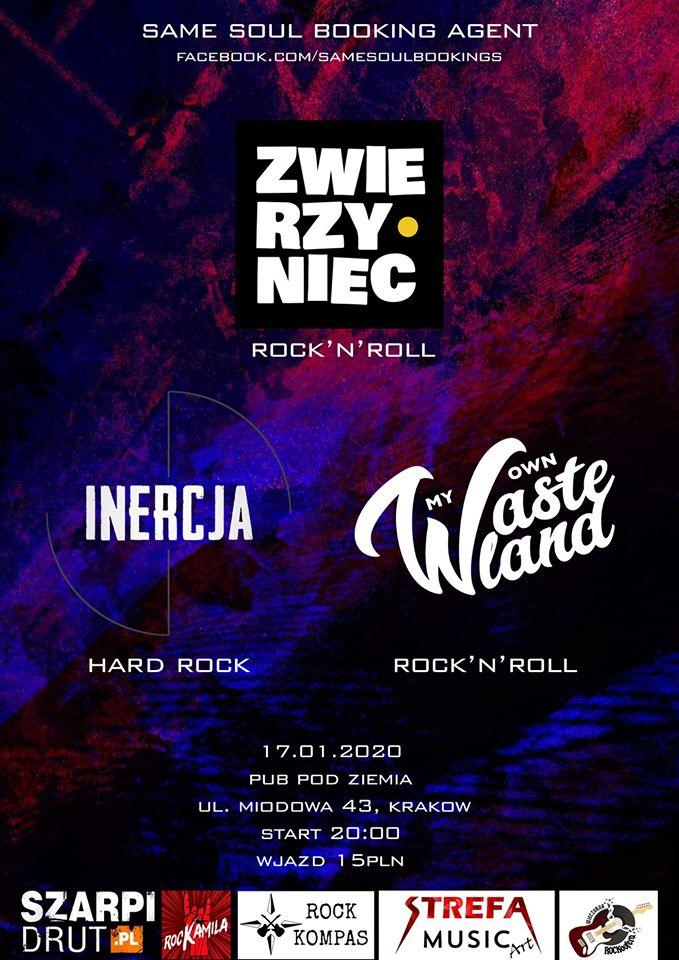 Koncert: Zwierzyniec / Inercja / My Own Wasteland