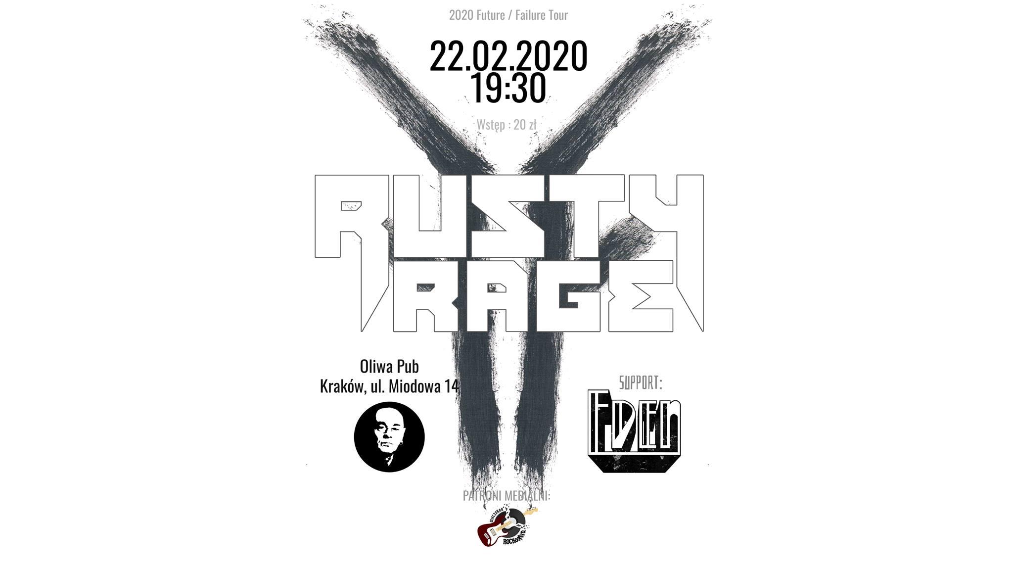 Rusty Rage + Eden w Oliwa Pub Kraków!