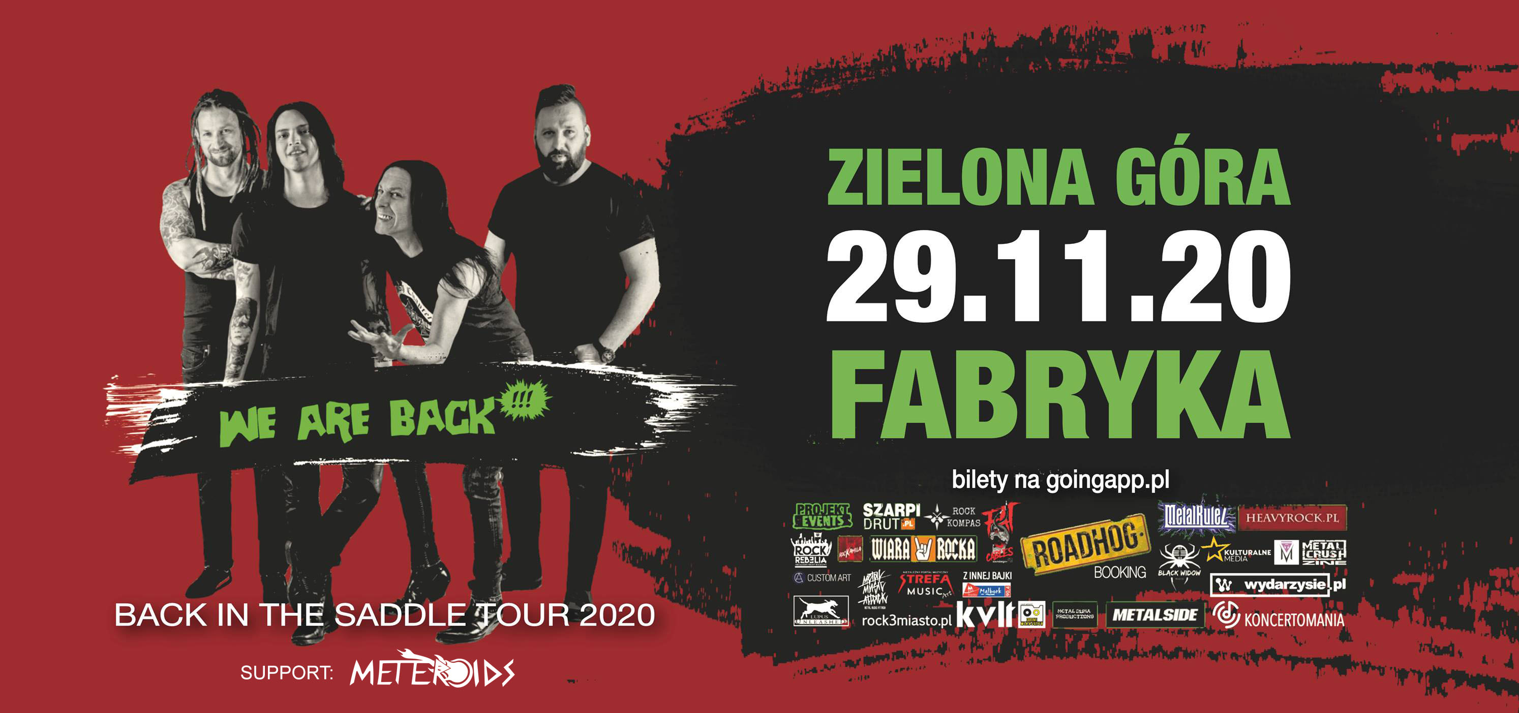 House of Death(+ Meteroids) live in Zielona Góra - PRZENIESIONY na 2021!!!
